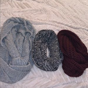 3 Infinity Scarves